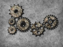 Gear wheel elements, Organization business concept Royalty Free Stock Image