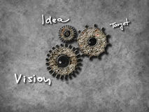 Gear wheel elements, Organization concept Stock Photography