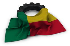 Gear wheel and flag of benin Royalty Free Stock Images