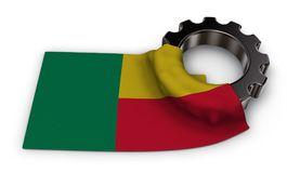 Gear wheel and flag of benin Stock Images