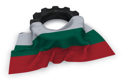 Gear wheel and flag of bulgaria Stock Photography