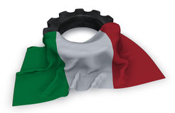 Gear wheel and flag of italy Stock Photography