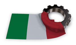 Gear wheel and flag of italy Royalty Free Stock Photo