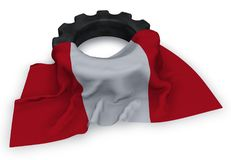 Gear wheel and flag of peru Stock Image