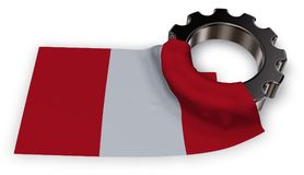 Gear wheel and flag of peru Stock Images