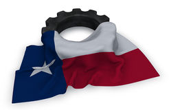 Gear wheel and flag of texas Stock Photography