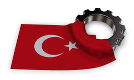 Gear wheel and flag of Turkey Royalty Free Stock Image