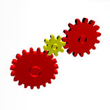 Gear Wheel Gold Red Royalty Free Stock Images