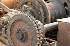 Gear wheel of heavy machinery. Royalty Free Stock Photo