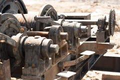 Gear wheel of heavy machinery. Stock Photo