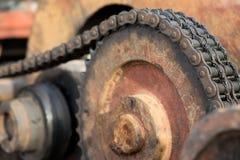Gear wheel of heavy machinery. Stock Photos