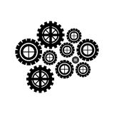 Gear wheel icon Stock Images
