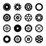 Gear wheel icons set 2 Royalty Free Stock Image