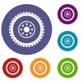 Gear wheel icons set Royalty Free Stock Image