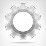 Gear wheel inner text space template isolated Stock Photography