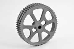 Gear wheel. Machine gear wheel with white background Royalty Free Stock Images