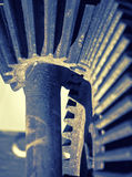 Gear wheel mechanism, artistic toned Royalty Free Stock Image