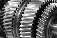 Gear wheel parts new car removed. Close-up Royalty Free Stock Photography