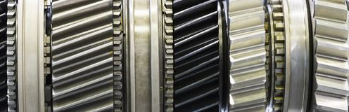 Gear wheel parts new car removed. Close-up Royalty Free Stock Photo