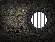 Gear wheel prison window Royalty Free Stock Images