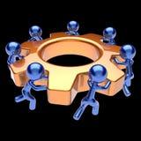 Gear wheel teamwork cogwheel business team work men Stock Image
