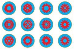 Gear wheel vector icons royalty free illustration