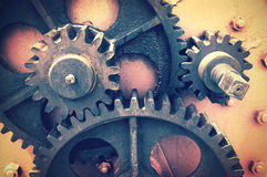 Gear wheel. With vintage effect Royalty Free Stock Images