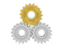Gear wheels. Isolated on white background Royalty Free Stock Photo