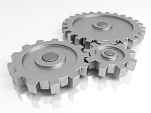 Gear wheels. A part of the mechanism Royalty Free Stock Images