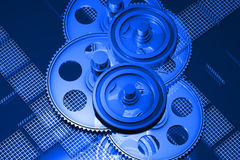 Gear wheels. 3D gear wheels available for background Royalty Free Stock Photography