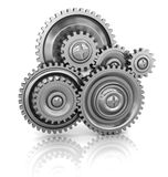 Gear wheels. 3d illustration of gear wheels system over white background Royalty Free Stock Images
