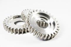 Gear-wheels. Three gear-wheels on white Stock Photos