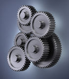 Gear wheels. A bunch of gear wheels symbolizing accuracy Royalty Free Stock Photography