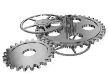 Gear wheels. A computer generated image of gear wheels on a white background royalty free illustration