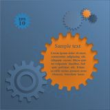 Gear wheels abstract background. Infographic Royalty Free Illustration