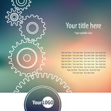 Gear wheels. Abstract background with gear wheels, vector illustration Stock Image