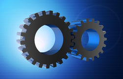 Gear wheels as concept Royalty Free Stock Photography