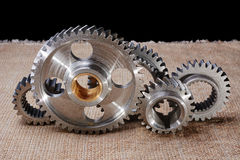 Gear wheels before assembly Royalty Free Stock Images