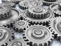 Gear wheels background royalty free illustration