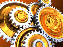 Gear wheels background stock illustration