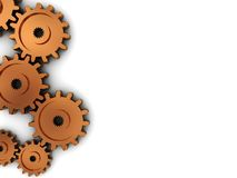 Gear wheels background Stock Photography