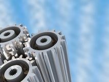 Gear wheels background Stock Photos