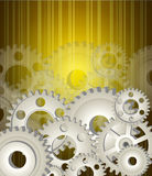 Gear wheels background Royalty Free Stock Images