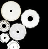 Gear wheels on black Royalty Free Stock Photo