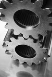 Gear-wheels in black/white Stock Image