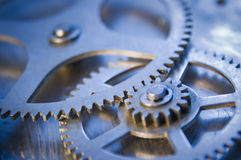 Gear wheels blue flat Royalty Free Stock Images