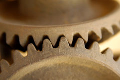 Gear wheels, close up Royalty Free Stock Image