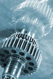 Gear wheels and cogs in titanium Stock Image