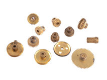 Gear wheels and cogs on a white background Royalty Free Stock Photography