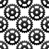Gear wheels or cogwheels seamless pattern Royalty Free Stock Photos